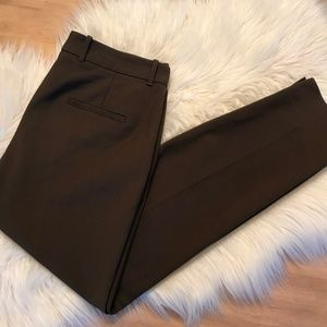 Zara Olive Green Skinny Pants Size 8